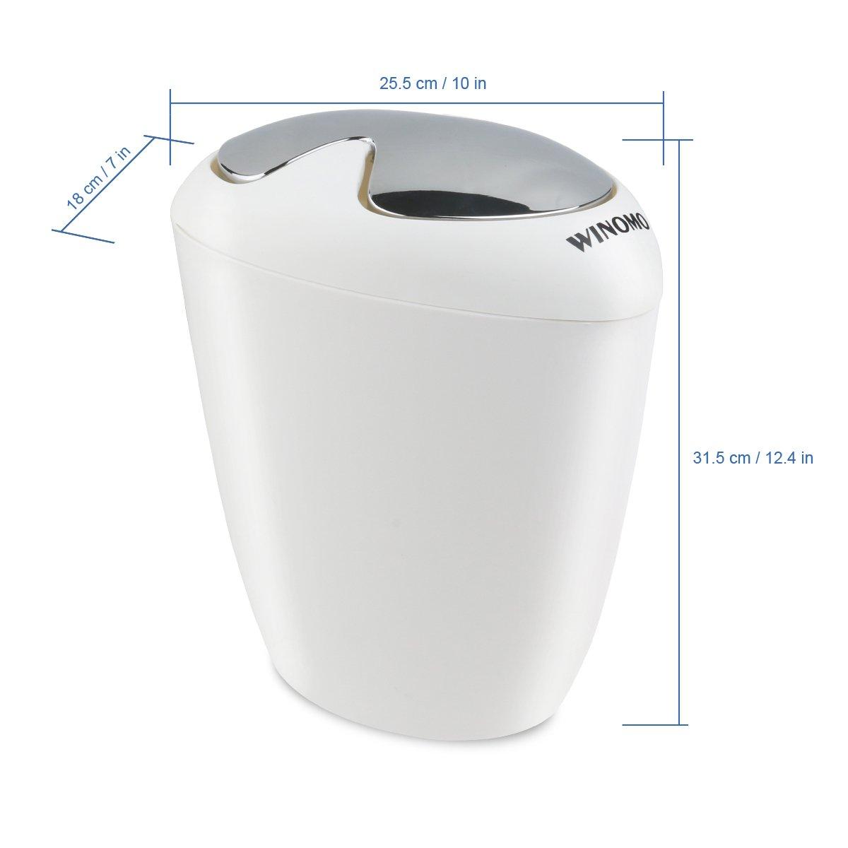 Amazon.com: WINOMO Bathroom Trash Can 6.5 Liter 1.75 Gallon Trash With Swing  Lip: Home U0026 Kitchen