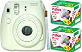 Fuji film Instax Mini 8 ''genuine strap'' Instant Camera White type INS MINI 8 WHITE N - International Version (No Warranty)