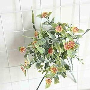AGUIguo Simulation Daisy Flowers Holding Artificial Flower Home Patio Decor Flower Wedding Party Bouquet (Orange) 1