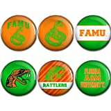 WinCraft Florida A&M Rattlers Official NCAA Metal Button Badge Pin Set 6 Pack by 953841