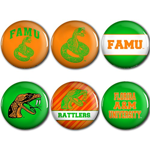 WinCraft Florida A&M Rattlers Official NCAA Metal Button Badge Pin Set 6 Pack by 953841 by WinCraft