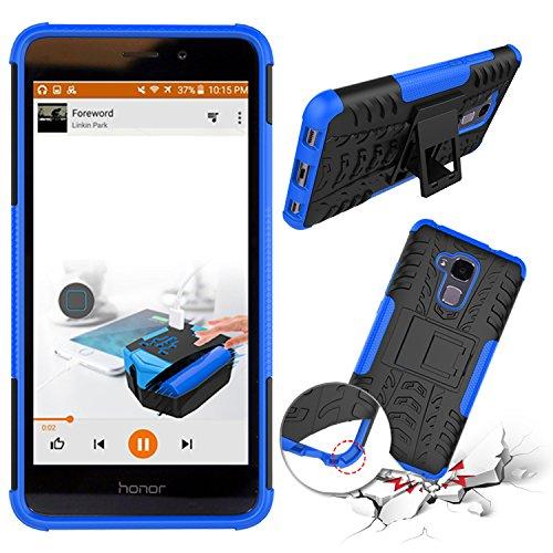 YAJIE-Carcasa Funda Para Huawei Honor 5C / Honor 7 Lite / Huawei GT3, nueva carcasa de doble armadura híbrida desmontable [Kickstand] 2 en 1 resistente a prueba de golpes cubierta de la caja ( Color : Blue