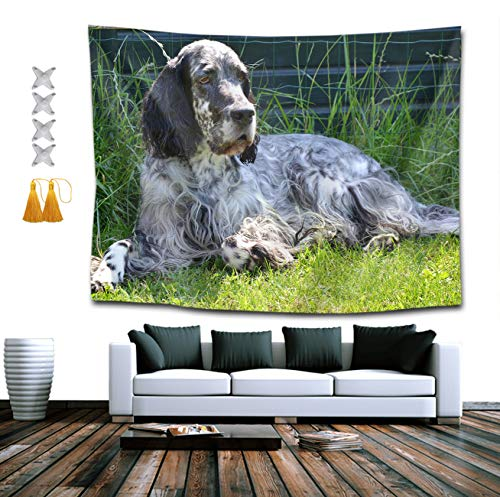 CIGOCI Bohemian Wall Hanging Hippie Hippy Tapestry,English Setter Dog Leisure 3D Print Indian Room Decor Bedding Tapestry, Mysterious Tapestry - 60 x 90 inches, Beach Towels ()