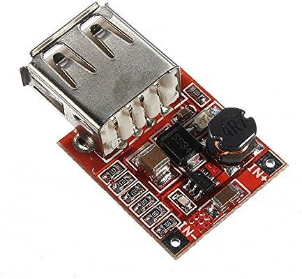 Ils - 10 Piezas 3V a 5V 1A Cargador USB convertidor DC-DC intensificar Módulo de Impulso