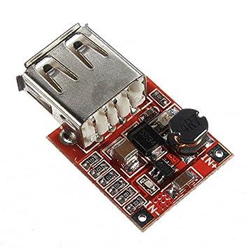 Ils - 2 Piezas de 3V a 5V 1A Cargador USB DC-DC convertidor ...