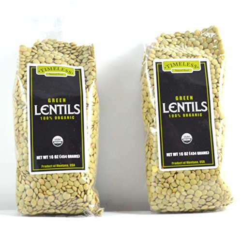 Organic Green Lentils 2 Pack 16 oz each