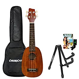 Sawtooth ST-UKE-MPS-KIT-2 Mahogany Pineapple Ukulele with Quick Start Guide, Stand, Gig Bag & Tuner
