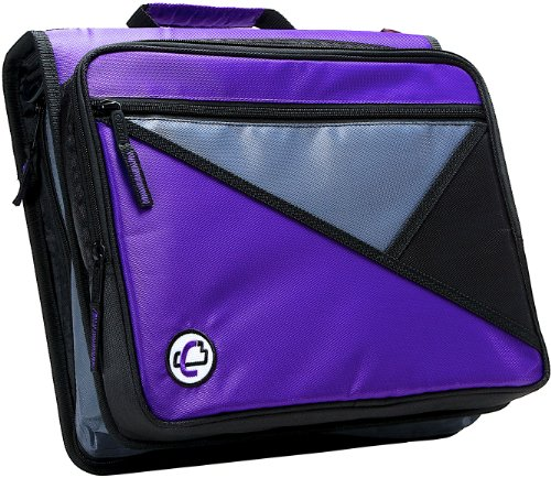 Case-it Universal 2-Inch 3-Ring Zipper Binder, Holds 13 Inch Laptop, Purple, ()