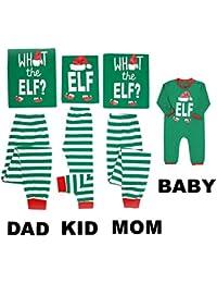 Family Matching Christmas Pajamas Sleepwear Letter...