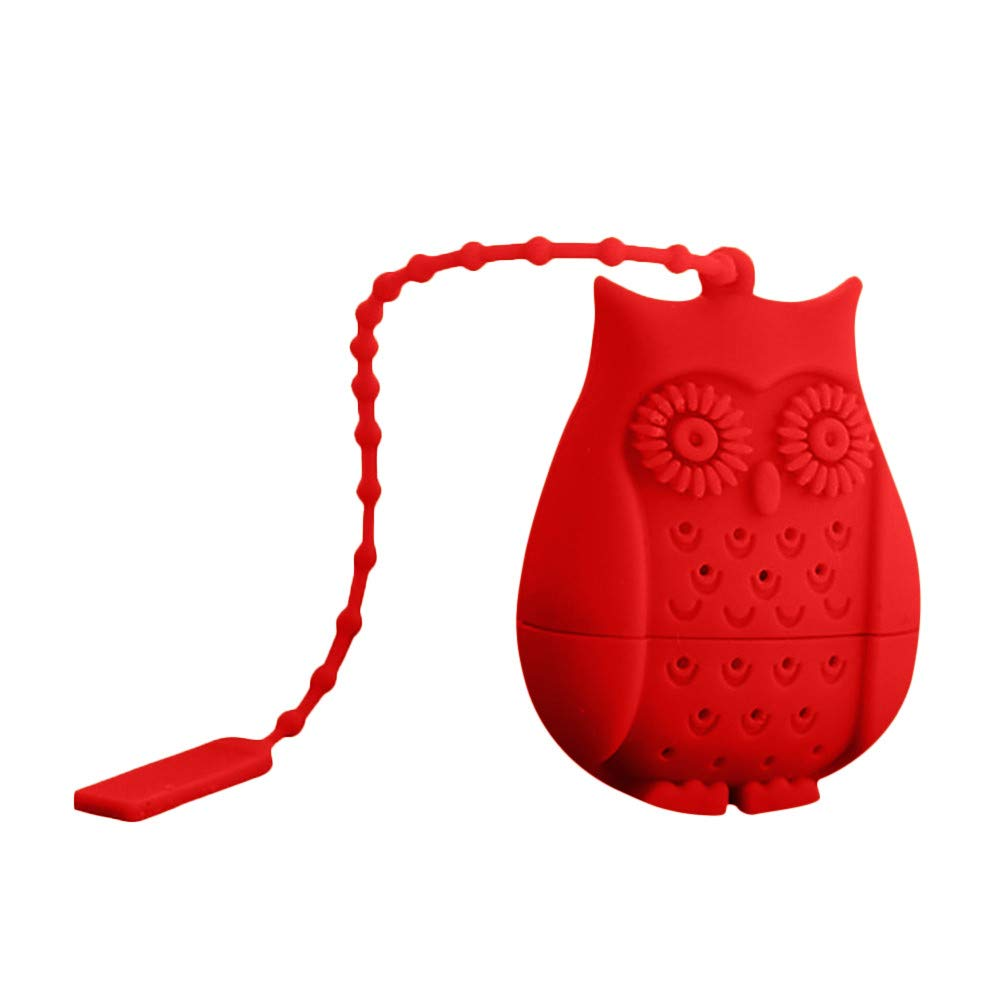 Sikye Tea Infuser Silicone Novelty Owl Perforated Strainer Tea Interval Diffuser for Tea (Blue)