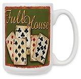 Art Plates ''Poker Full House'' Ceramic Coffee Mug, 15 oz
