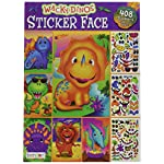 Bendon Wow! Wacky Dinos Sticker Face Book 408 Stickers 32 Face Pages New Edition