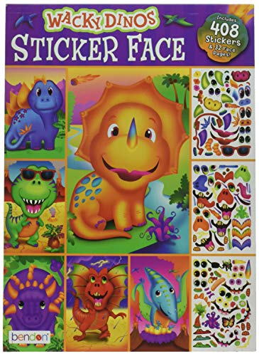 Bendon Wow! Wacky Dinos Sticker Face Book 408 Stickers for sale  Delivered anywhere in USA