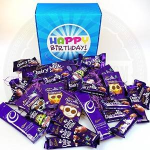 The Ultimate Cadbury Dairy Milk Chocolate Lovers Happy Birthday Gift Box - By Moreton Gifts - Dairy Milk Chocolate Bars, Buttons, Freddo, Hot Chocolate ...