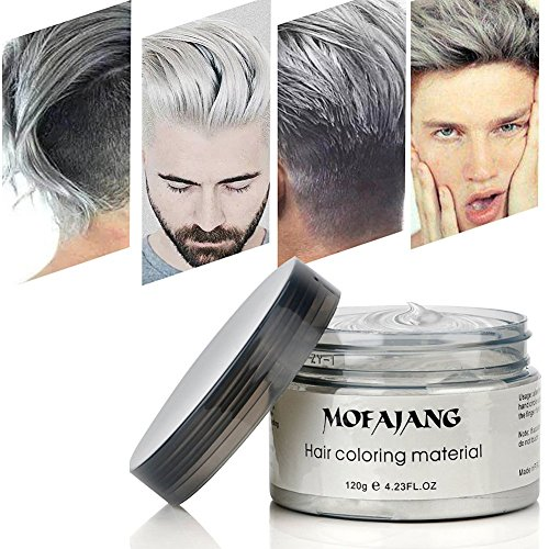 White Eye Contacts For Halloween (Hair Wax , Silver Grey Hair Color Wax, Temporary Hair Mud Cream, Fresh and Natural Hairstyle Pomades, Natural Matte Hairstyle Hair Dye Wax for Daily use Party, Cosplay)