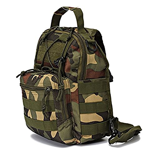 Single backpack SODIAL ACU bicycle bag Shoulder Camping Camouflage strap shoulder bag R Forest Digital strap Hiking Backpacks qvqB0HF