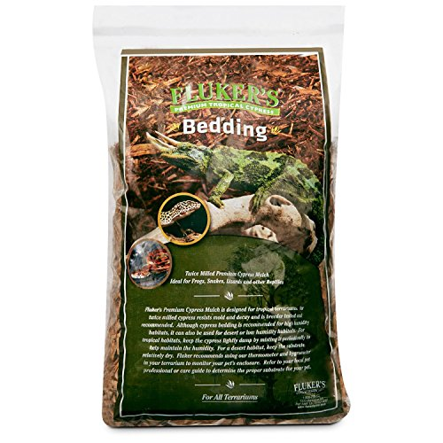 Cypress Mulch (Flukers Premium Tropical Cypress Bedding for Reptile, 5 quart)