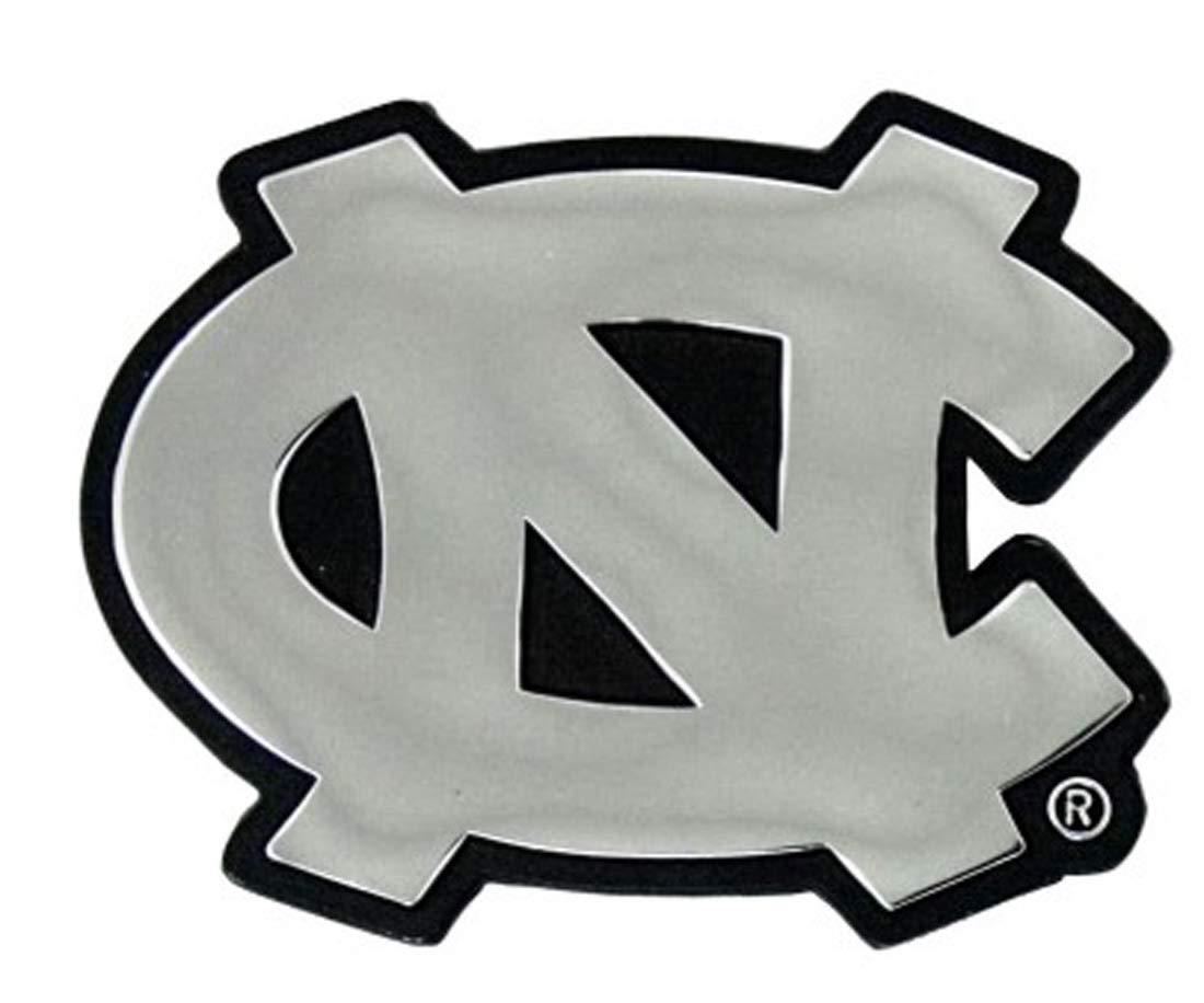 WinCraft NCAA ノースカロライナ UNC ターヒールズ プレミアムオートエンブレム クロームメタル