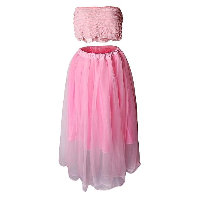 24484f4bb Baoblaze Vestido de Fuerte Elasticidad Sensación Cómoda para Sesiones de  Fotos Estudio Fotográfico Mujer Embarazada -