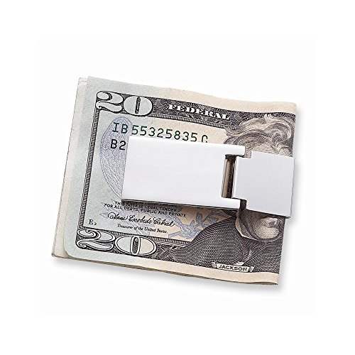 ICE CARATS Nickel Plated Hinged Money Clip Man Fashion Jewelry Gift for Dad Mens for Him