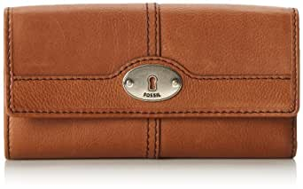 Fossil Marlow Flap Wallet, Chestnut, One Size