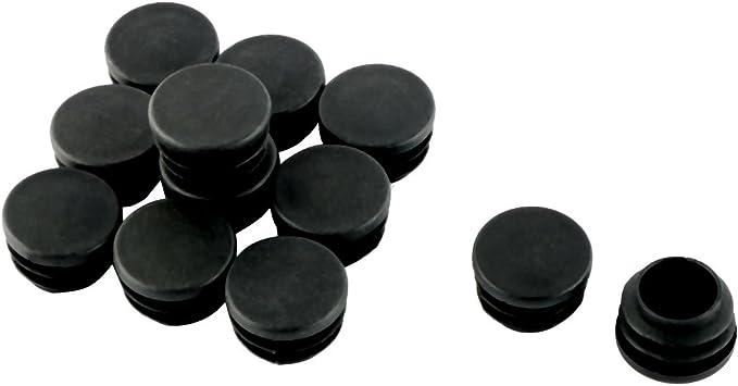 uxcell 12 Pcs Black 25mm 1 Diameter Blanking End Caps Covers Tube Insert