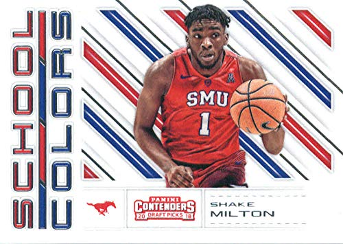 2018-19 Panini Contenders Draft Picks School Colors #23 Shake Milton SMU Mustangs Basketball ()