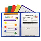 C-Line Classroom Connector School-to-Home Folders, Assorted Colors, 36 per Box (32000-36)