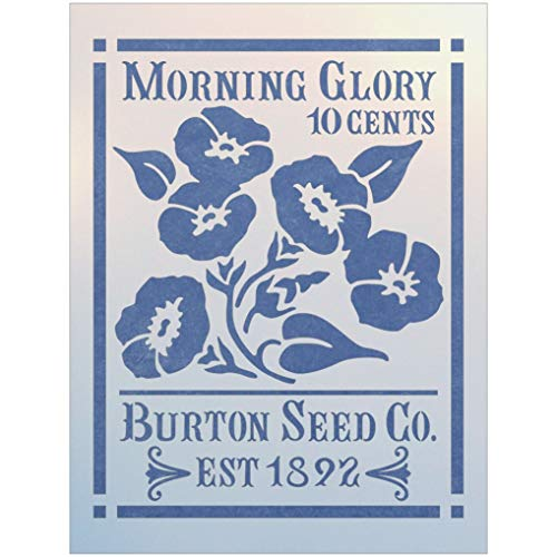 (Antique Morning Glory Seed Packet Stencil - The Artful Stencil)