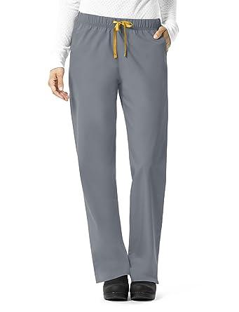 a77e6e3fbe Amazon.com: Carhartt Size Rockwall Women's Plus Pull On Straight Leg Scrub  Pant: Clothing