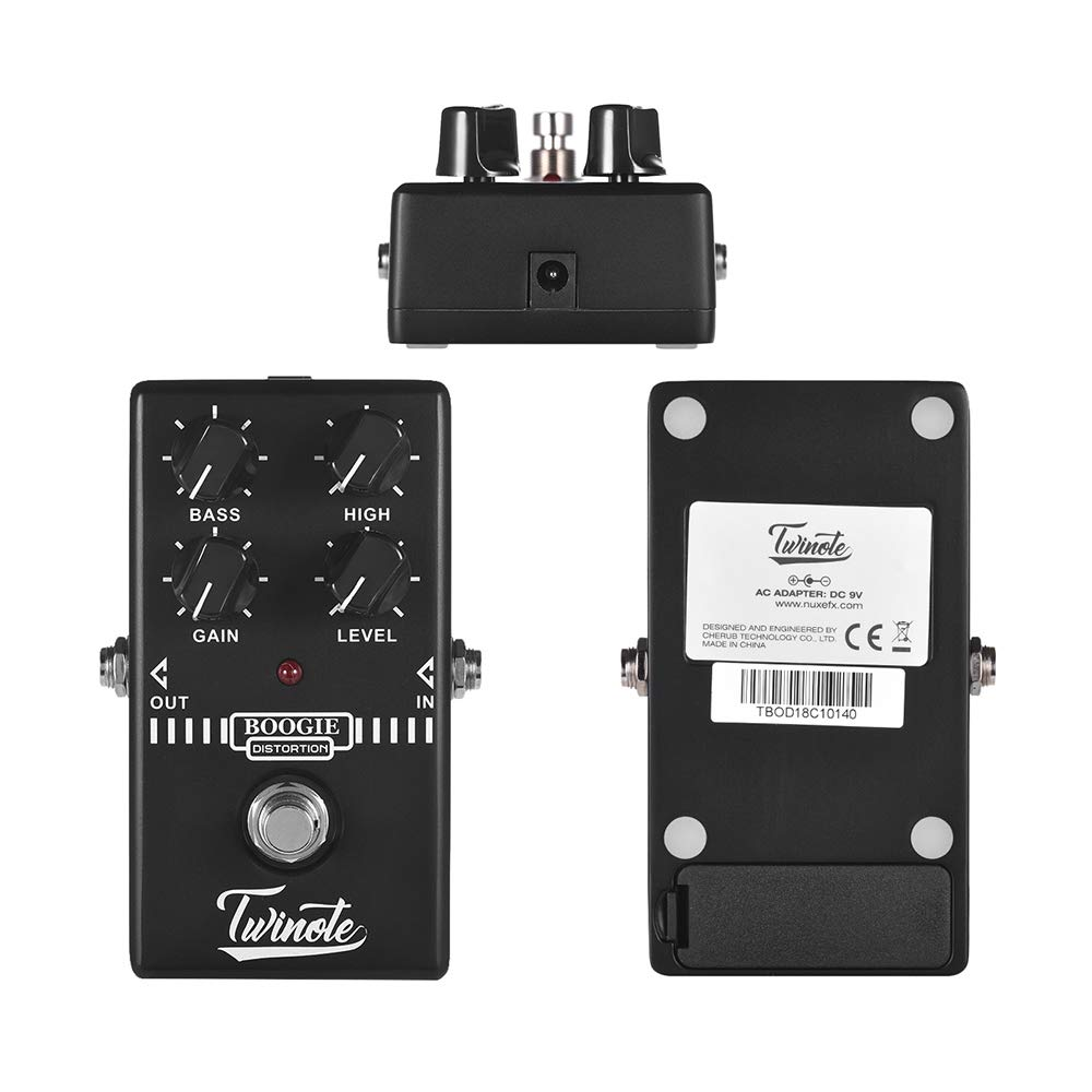 Twinote BOOGIE DISTORTION Analog Old School Distortion Guitar Effect Pedal Processsor Full Metal Shell with True Bypass: Amazon.es: Instrumentos musicales