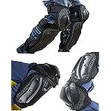4Pcs Elbow Knee Pads Shin Armor Protect Guard Pads Kit ATV Motocross Motorcycle Protective Kits