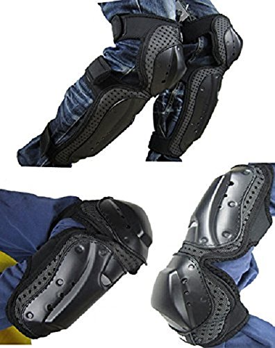 4Pcs Elbow Knee Pads Shin Armor Protect Guard Pads Kit ATV Motocross Motorcycle Protective Kits TK
