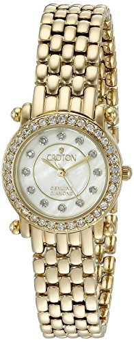 Watch Diamond Ladies Croton (CROTON Women's CN207535YLMP Analog Display Quartz Gold Watch)