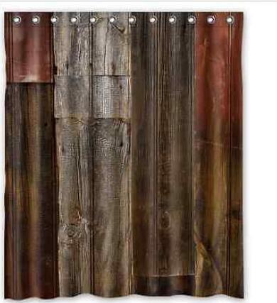 Rideau De Douche Pour Timbres Une Planche En Bois De L Impression