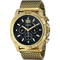 Men's U0205G1 Sporty Stainless Steel Multi-Function Watch with Chronograph Dial and Mesh Pilot Buckle