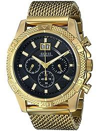 GUESS Men's U0205G1 Mesh Gold-Tone Chronograph Watch