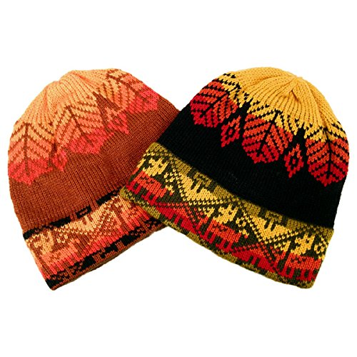 Alpaca Beanie Hat - Alpaca Knit Beanie Set of Three Assortment Winter Hat