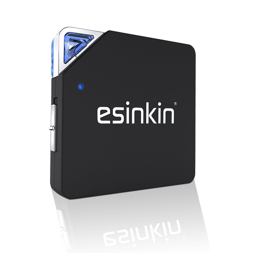 esinkin Bluetooth Receiver/Transmitter, Wireless 2-in-1 Audio Adapter for TV/Home Sound System