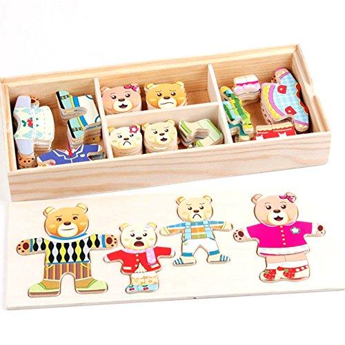 bear family dress up puzzle - 8