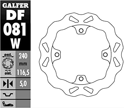 Front Galfer 12-17 Honda NC700X Solid Mount Wave Brake Rotor Front
