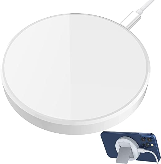 White Galaseed C15 Magnetic Wireless Charger for iPhone//Android Compatible with iPhone 12