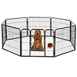 "Image of BestPet Hammertone Finish 32"" Heavy Duty Pet Playpen Dog Exercise Pen Cat Fence S"
