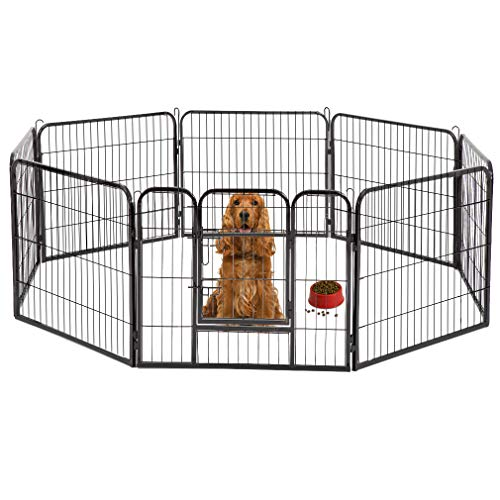 BestPet Hammertone Finish Heavy Duty Pet Playpen Dog Exercise Pen Cat Fence S, 32-Inch