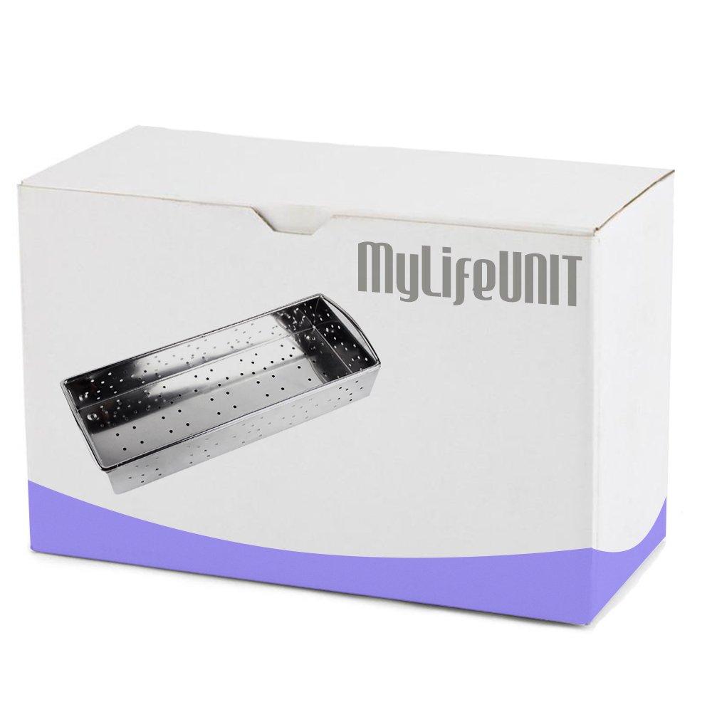 MyLifeUNIT Stainless Steel Flatware Tray Small Silverware Storage Basket Mesh Drawer Organizer