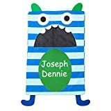 Personalized Midwest CBK Kids' Monster Character Hanging Cotton Laundry Bag (Blue)