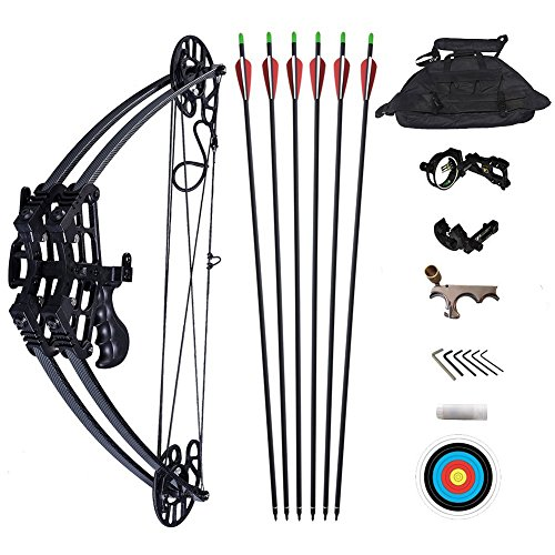 ATROPOS M109 Black/Camo Archery Hunting Compound Bow Set Black