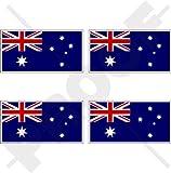 "AUSTRALIA Australian Flag 2"" (50mm) Vinyl Bumper Stickers, Decals x4"