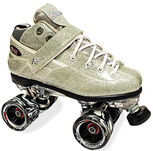 Sure-Grip Rock GT50 Sparkle Roller Skates (Silver, Mens 6 / Womens 7-7.5)