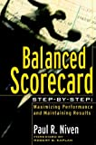 Balanced Scorecard Step-by-Step, Paul R. Niven, 0471078727